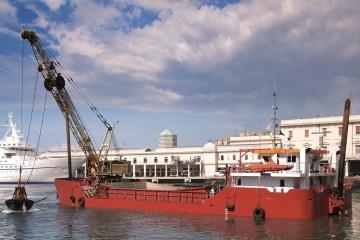 Self Propelled Crane Hopper Barge